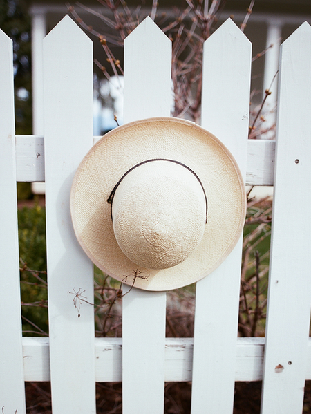 Brookes Boswell Heather Panama Straw with Black Drawstring Hat - Natural