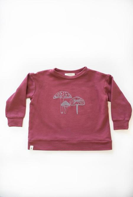Kids Chaboukie Sweatshirt - Wine Mushroom