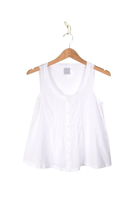 Coast Pintuck Tank - White