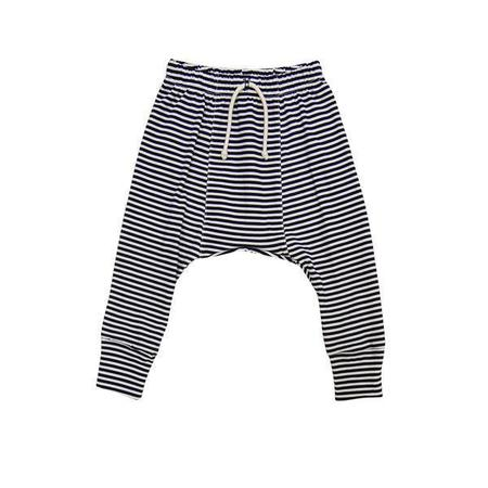 Kids Go Gently Nation Jersey Harem Pant - Navy/Natural Stripe