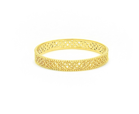 Grace Lee Designs Straight Lace Band-1 - 14K Yellow Gold