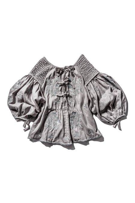 Innika Choo Smock Collar Top - Grey