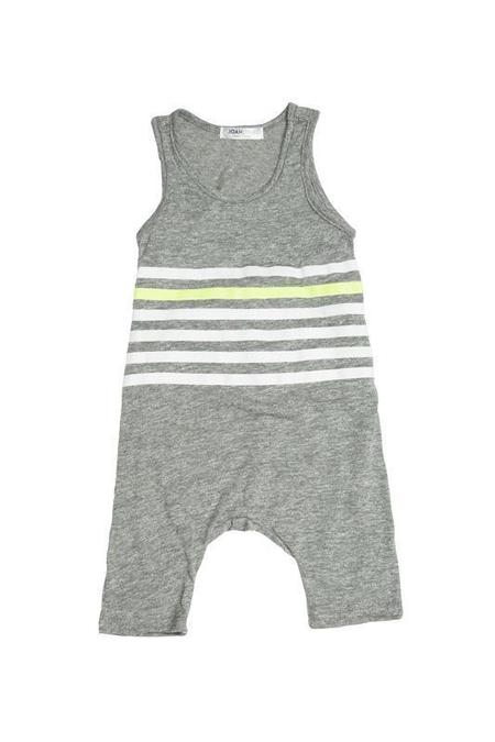Kids Joah Love Finn Playsuit - Grey