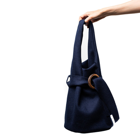 Elly Arif Noether Bucket Bag - Prussian Blue