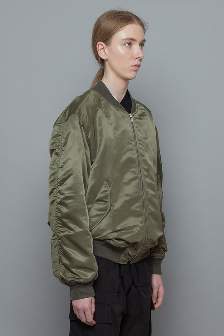 Juun. J Embroidered Layered Bomber Jacket - Khaki