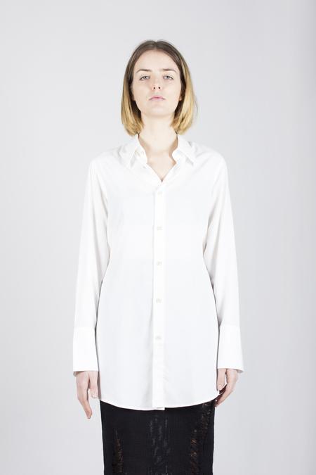 Song for the Mute Split Oversized Shirt - White