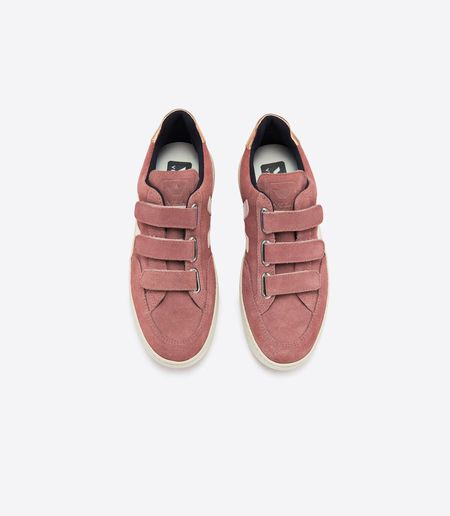Veja V-12 Velcro Suede Sneaker - Dried Petal Venus