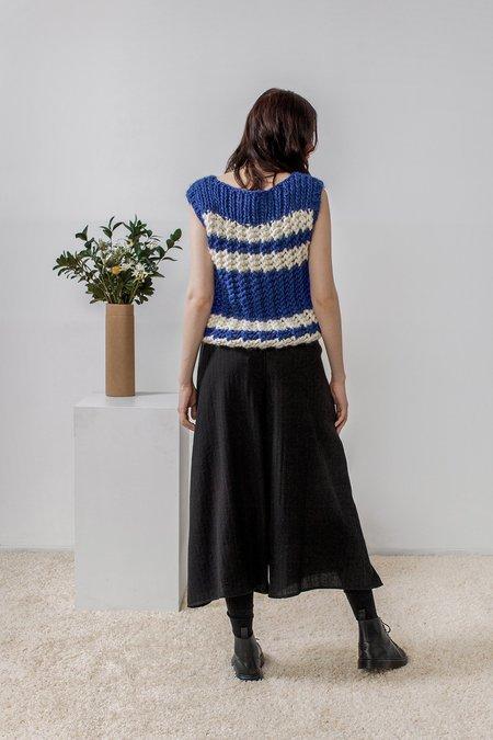 Rujuta Sheth Nancy Hand Knitted Sweater Vest - Striped