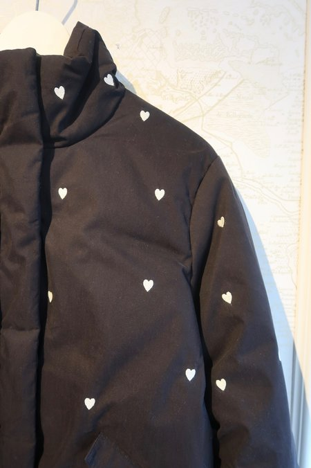 The Great. Puffer Coat with Hearts