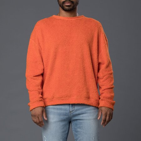 SK Manor Hill Reversible Pile Crewneck Sweatshirt - Orange