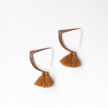 Ora-C Tessa Earrings - Camel