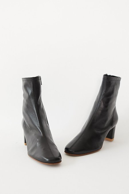 BY FAR Sofia Boots - Black Leather