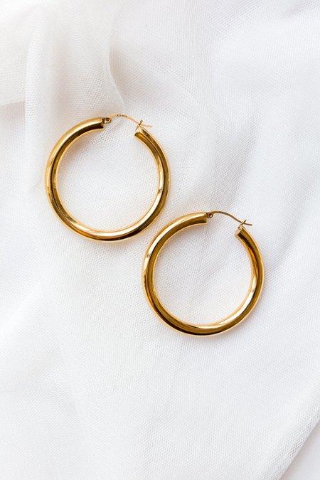 ARO 24K GOLD-PLATED Large Hoop Earrings