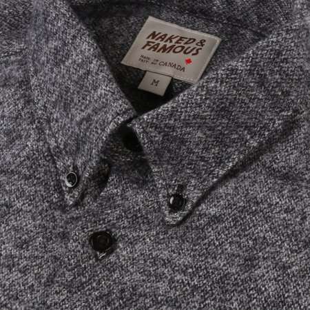 Naked & Famous Easy Shirt Brushed Melange - Grey