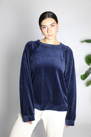 Baserange Al Sweat Shirt in Midnight Blue