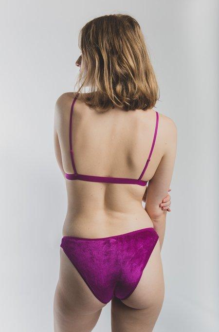 Baserange Bell Pants - Velours Purple