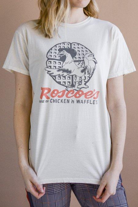 Retro Brand Black Label Roscoe's Printed Tee - Off White