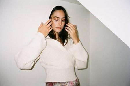 Bevza Hooded Crop Sweater