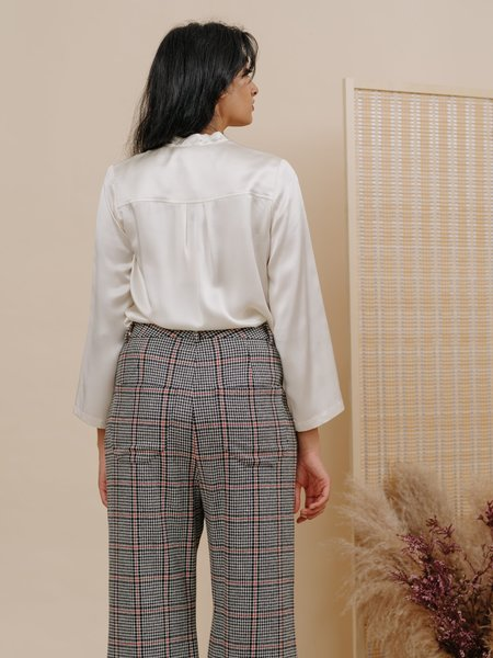 Wolcott : Takemoto Jim Blouse in Cloud Silk Charmeuse
