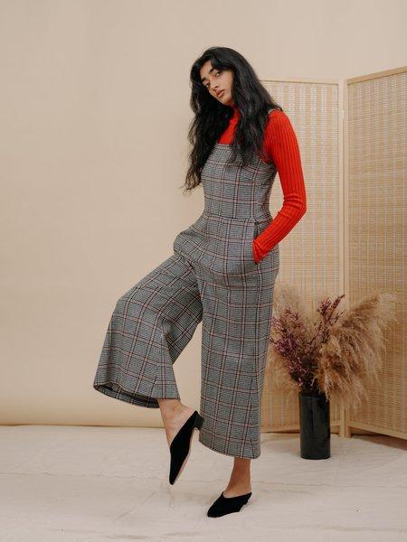Wolcott : Takemoto Kate Jumpsuit in Houndstooth Wool
