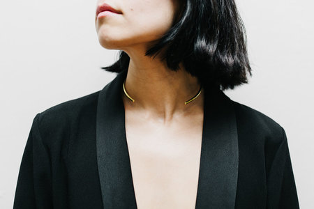 Cosmic Twin Simple Collar Necklace
