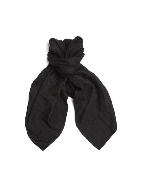 Blackyoto Jacquard-weave Linen Scarf