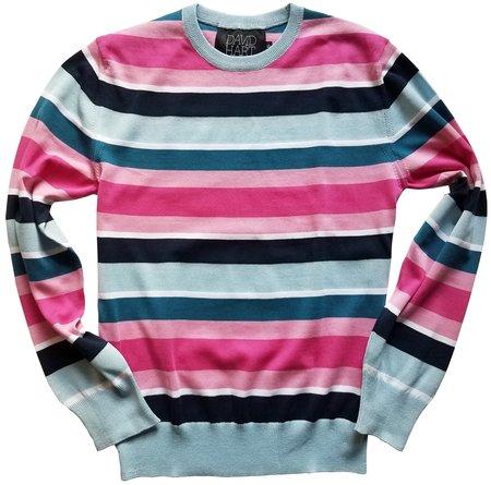 David Hart striped crew sweater - Blue/pink