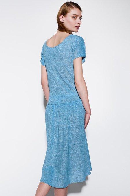 About Wear Linen Dress - Navy