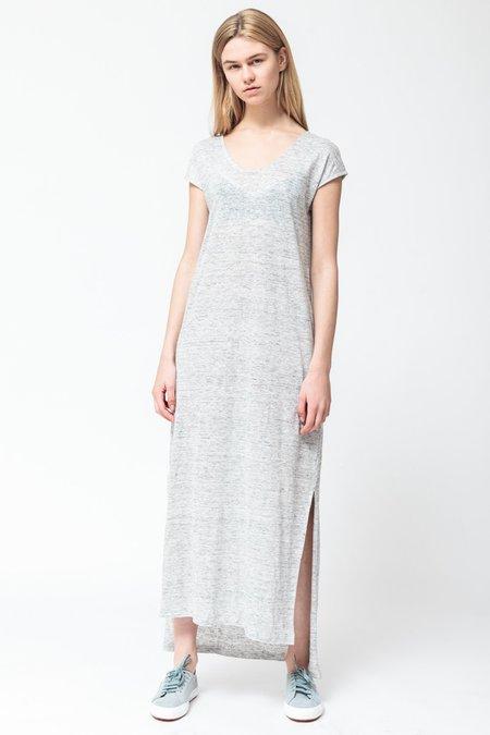 About Wear Long Melange Dress - Grey