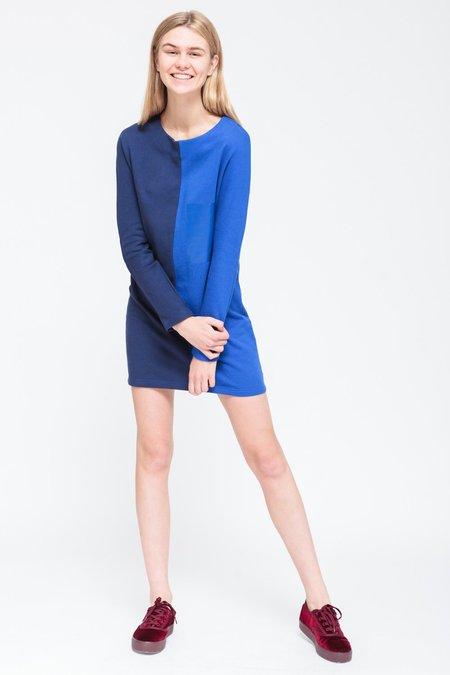 BUREAU TONIC MCLAUGHLIN DRESS - NAVY BLUE