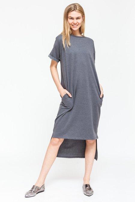 Native Youth METAMORPHIC T-SHIRT DRESS - grey