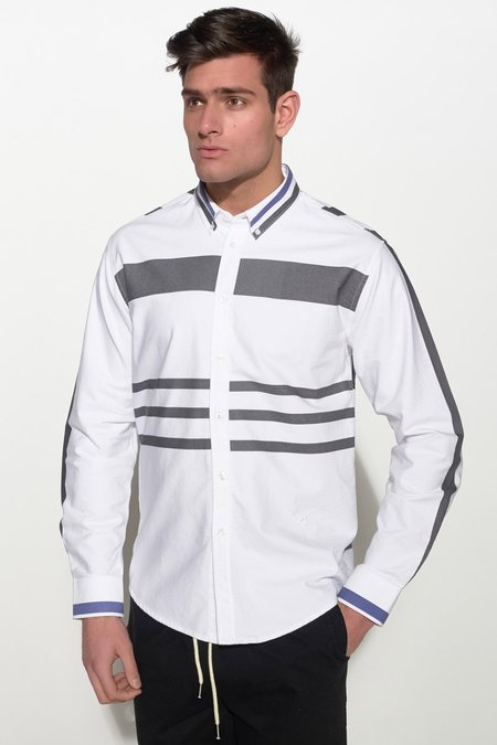 Soulland PARKEN SHIRT - WHITE/BLUE/BLACK