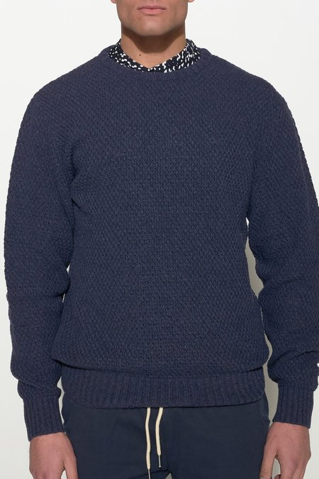 Soulland RICKETTS WOOL KNIT SWEATER – NAVY