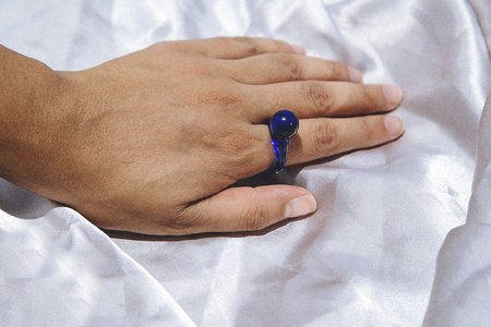 Mary Poppin Glass Ring - Blue/Clear