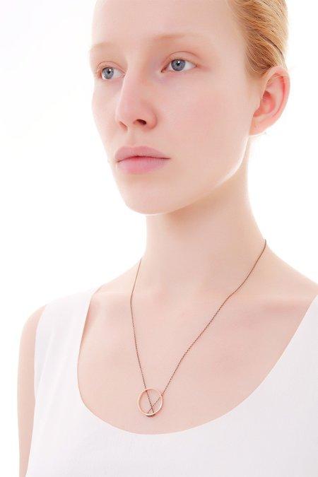 MOUTSATSOS SMALL CIRCLE necklace