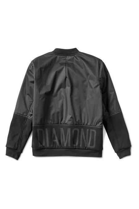 DIAMOND STADIUM BOMBER JACKET - BLACK