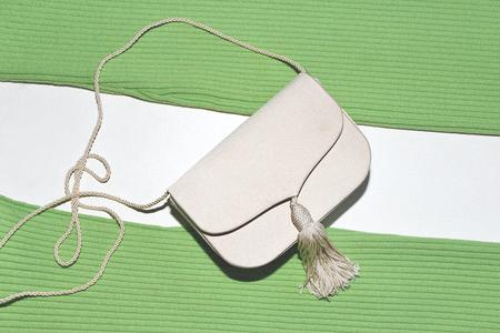 Las Cruxes Vintage Valentina Tassel Clutch/Shoulder Bag - Ivory