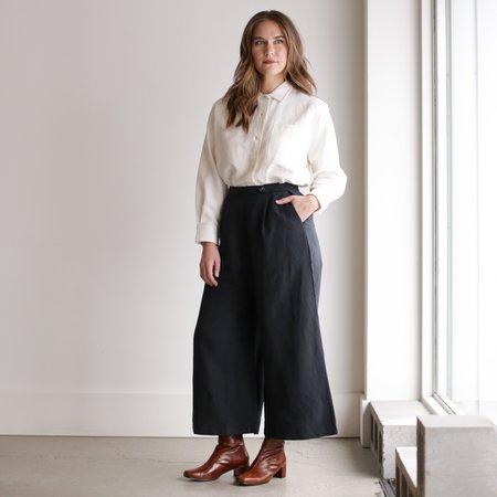 Ozma Studio Trouser - Black Silk Linen