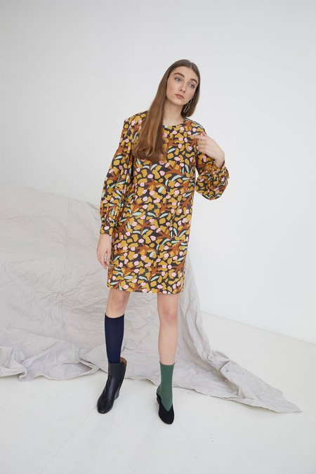 WHiT Jude Dress - Elderberry Print
