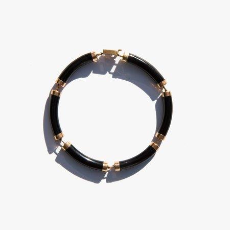 Vintage Kindred Black 14K Gold and Onyx Bracelet