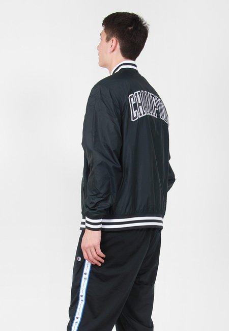Champion Satin Baseball Jacket - Black