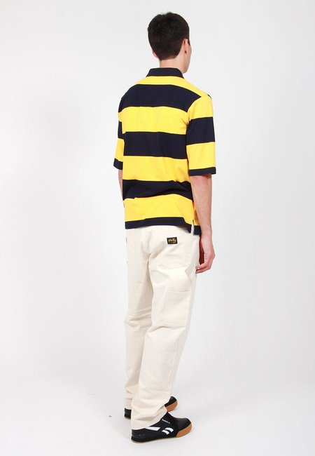 Lazy Oaf Stripy Cheese Polo Shirt - Yellow
