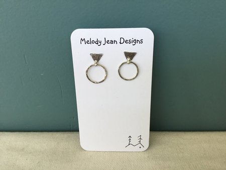 Melody Jean Delta Small Earring - Sterling Silver
