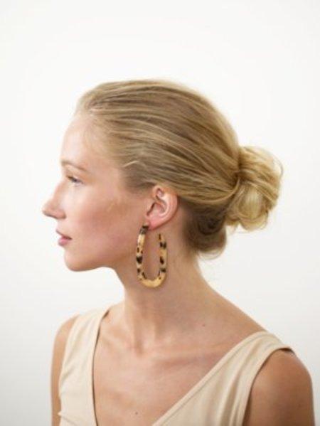 Machete Margot X Hoop Earrings - Blonde Tortoise