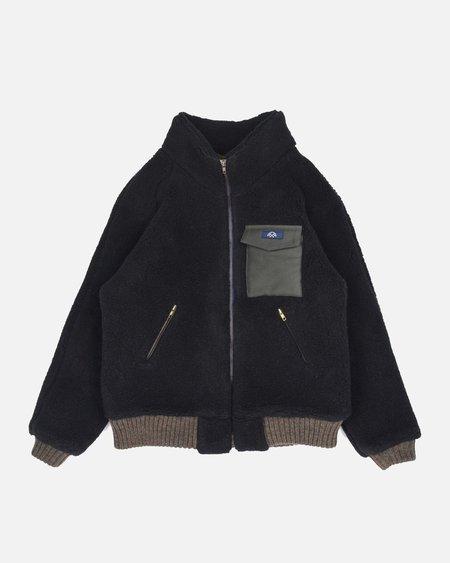 Bleu De Paname Polaire Raglan Jacket - Black