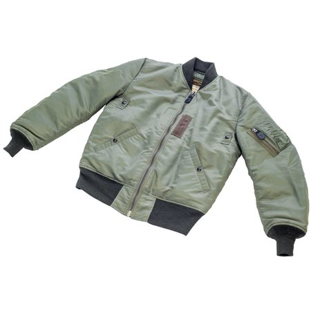 Buzz Rickson's x William Gibson Down Filled MA-1 Jacket - Sage Green