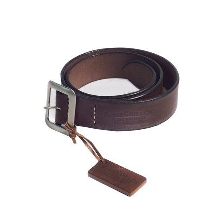 Sugar Cane Cowhide Belt - Brown