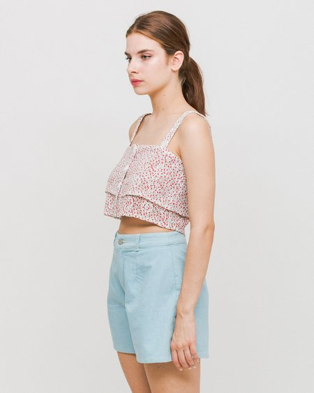 Side Party Southern Layered Top - Floral