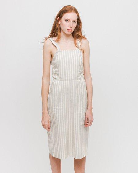 Diarte Cesar Dress - Gray Stripes