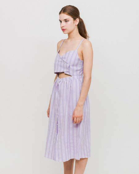 Side Party Sway Front-Tie Midi Dress